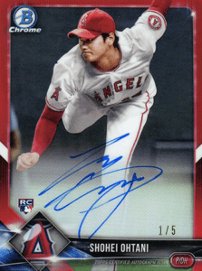 Shohei Ohtani Rookie Card (Bowman Chrome Pitcher)