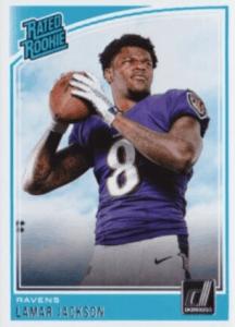 Lamar Jackson rookie card Donruss