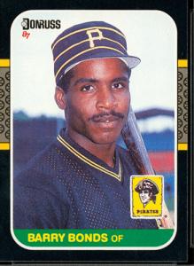 1987 Donruss Barry Bonds Rookie Card