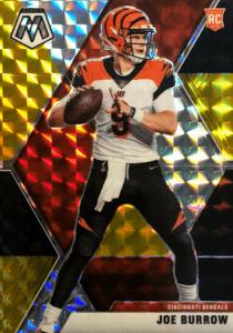 Joe Burrow rookie card Mosaic