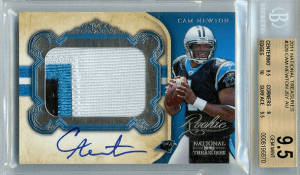 Cam Newton Rookie Card National Treasures