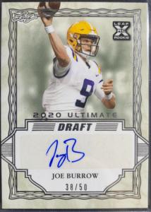 Joe Burrow Rookie Card Leaf Ultimate Draft