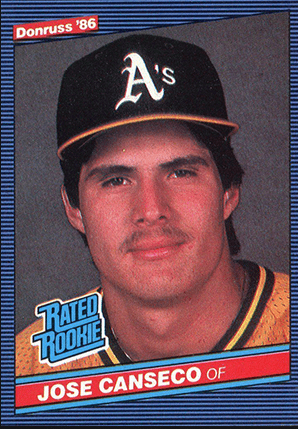 Jose Canseco Rookie Card Donruss