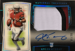 Kyler Murray Rookie Card National Treasures