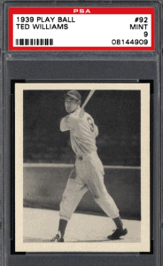 Ted Williams Rookie Card Play Ball