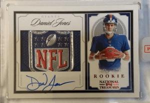Daniel Jones rookie card National Treasures