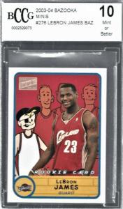 Lebron James most valuable bazooka rookie card
