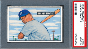 mickey mantle most expensive rookie card
