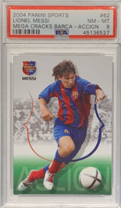 Lionel Messi rookie card panini