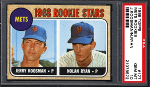 most expensive rookie card nolan ryan