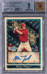 mike trout most expensive rookie card