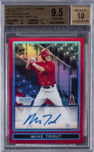 Mike Trout Red Refractor
