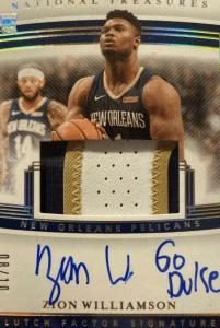 Zion Williamson National Treasure card clutch factor