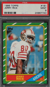 Jerry Rice Topps rookie card