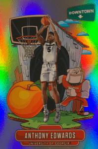 anthony edwards rookie card prizm