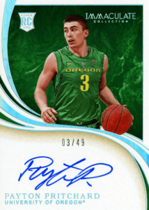 immaculate payton pritchard rookie card