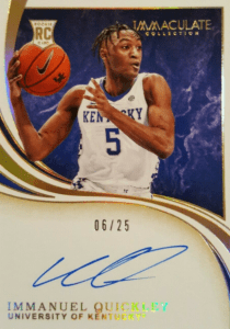 immaculate immanuel quickley rookie card