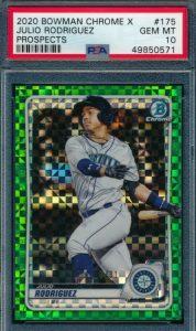 Julio Rodriguez rookie card chrome x
