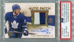 auston matthews rookie card sp