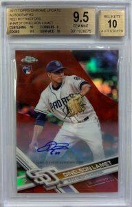 topps chrome dinelson lamet rookie card