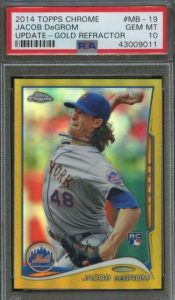 jacob degrom rookie card topps