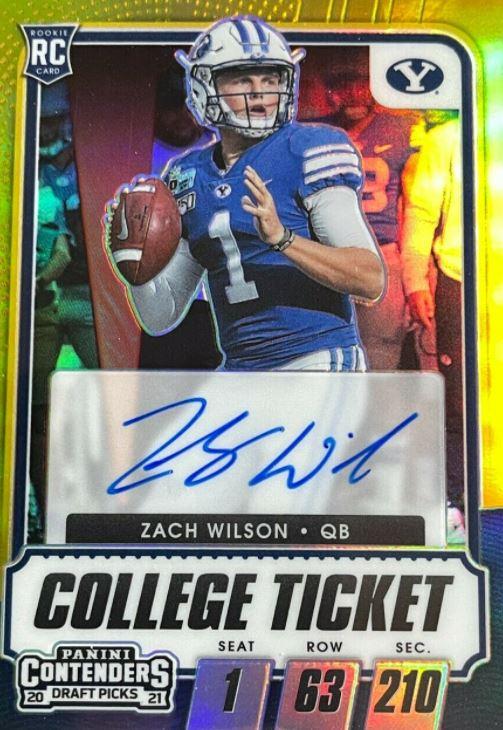 zach wilson rookie card