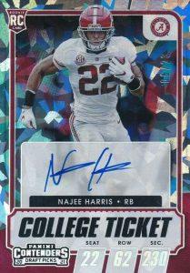 najee harris rookie card ticket