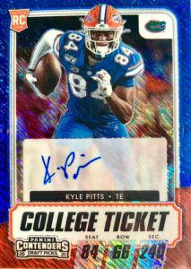 panini kyle pitts rookie card