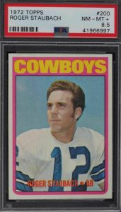 most valuable football cards 1970s roger
